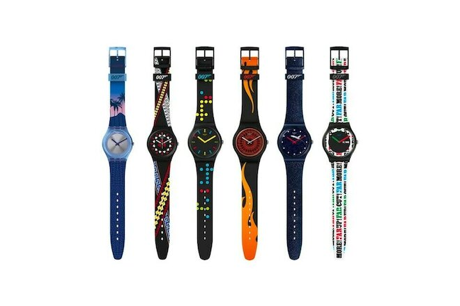 Set of 6 Swatch James Bond 007 watch collection celebrate 6 movies - BRAND NEW