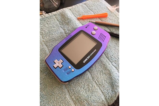 Chameleon Metallic Blue Purple Nintendo Gameboy Advance Tak 2 Staff Of Dreams