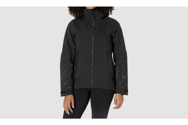 $954 Bogner Fire + Ice Women's Black Hanna Hooded Parka Jacket Coat Size 10