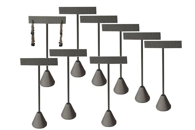 "12pc Earring Display Stand Grey Earring Display Tree Gray Earring Stand 4 1/2""H"