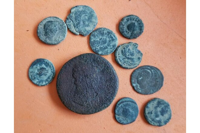 Lot #141  (10) Ancient Roman Imperial Coins AE  Uncleaned