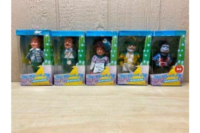 The Wizard of OZ Munchkins , Lot of 5 Dolls in Box's