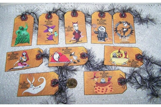 10~Halloween~Jack Skellington~Zero~Nightmare Before Christmas~Gift~Hang~Tags