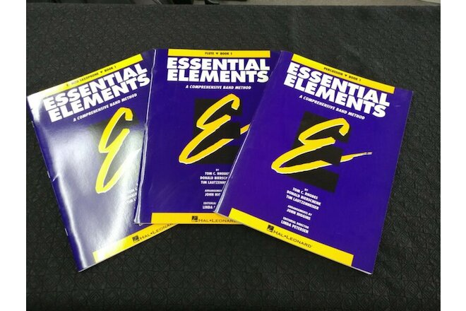 New Old Stock Essential Elements Band Books - Pre 2000