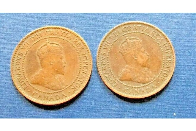 Canadian 1 cent coins (2) 1902, 1903 (A179)