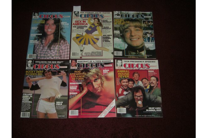 6 Circus Music Magazines From 1979 Wholesale Lot # 5