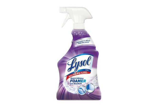 Lysol Mold & Mildew Remover Spray with Bleach, 32 oz (Pack of 4)