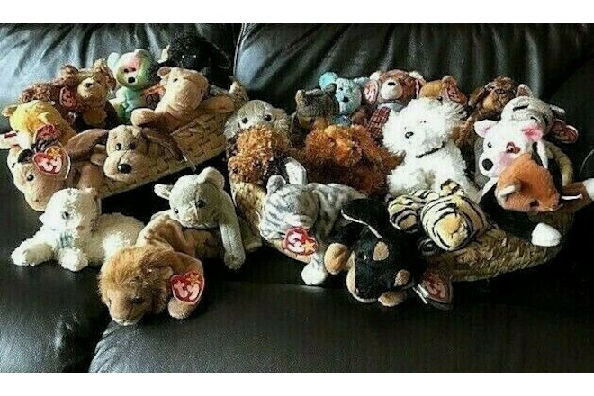 "BEANIE BABIES--VINTAGE --RETIRED---""25""--- ASSORTED"