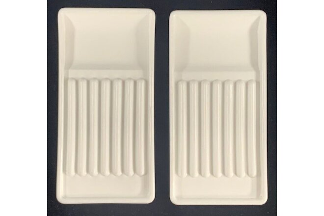 Lot 2 Vintage Dental Milk Glass Dentist Tool Trays USA VALTRONIC DT6