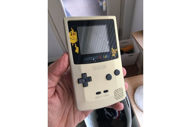 Gold Pokémon Gameboy Color Nintendo GBC Test Drive 6 Cartridge Refurbished