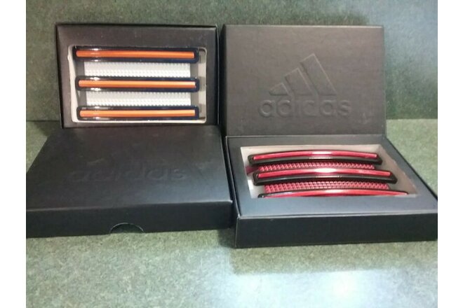 Adidas Trophy Belt Buckles NWB  Set Of  2. Three Stripe Life.