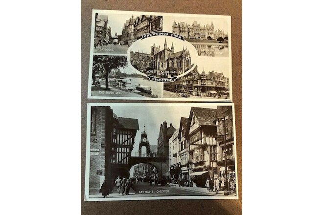 2 Chester England Postcards early1900's