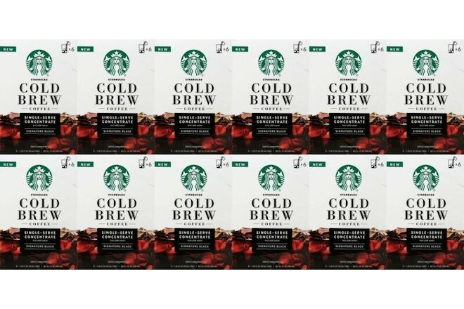 72 Starbucks Cold Brew Medium Roast Concentrate Black Best Before November 2020
