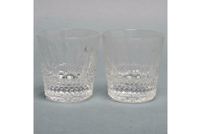 "PAIR (2) SAINT LOUIS CRYSTAL ""TOMMY"" DOUBLE SCOTCH GLASSES, 4"""
