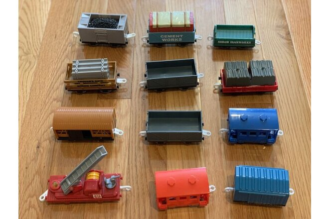 Lot of Thomas & Friends Trackmaster Non-Motorized Tenders Cargo Wagon Cars