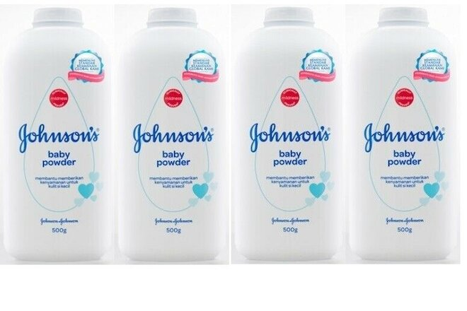 LOT OF 4 JOHNSON'S BABY POWDER 500 GR / 17.6 OZ EACH