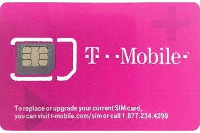 T-Mobile 4G LTE 3 in 1 Triple Cut Sim Card - LOT of 25