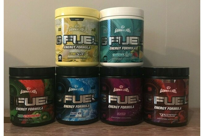 Rare Discontinued OG GFUEL Tubs From 2017-2018