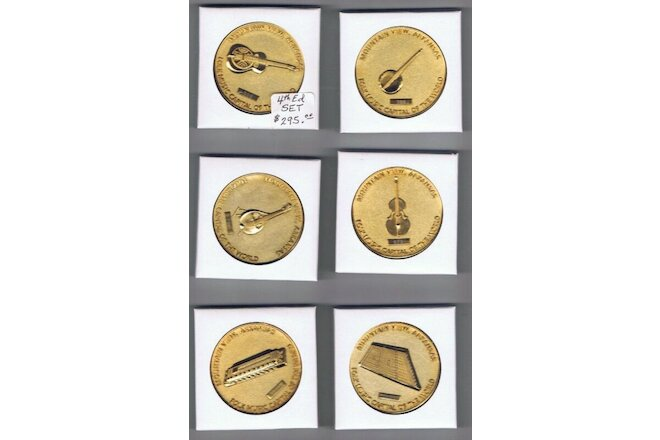 Mountain View, Arkansas 4th ED Official Commemorative GOLD (6) COIN SET