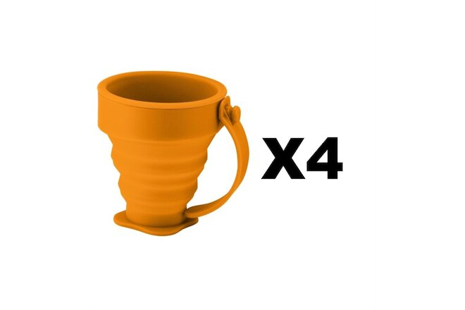 Ultimate Survival Technologies FlexWare Mug Orange 200ml Collapsible (4-Pack)