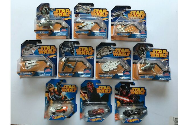 Lot of 10 Star Wars Hot Wheels - Brand New