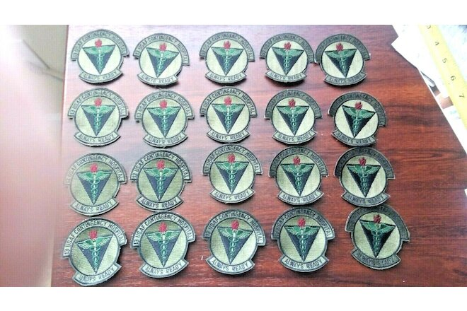20 Air Force 13th USAF Contingency Hospital Subdued Insignia Patches Dealers Lot