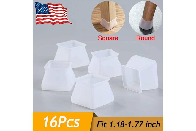 16pc Silicone Chair Furniture Leg Cap Floor Protector Anti-Slip Table Feet Cover