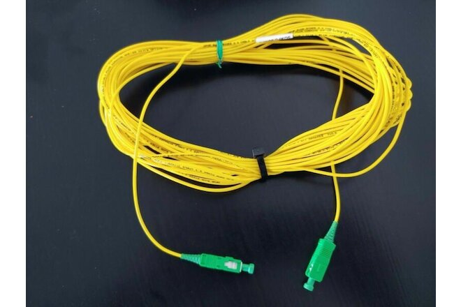LOT OF 5x 3M SC/APC to SC/APC Fiber Optic Simplex Single-Mode Patch Cable Yellow