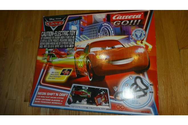 Carrera Go Disney/Pixar Cars Neon Shift 'N Drift Set  #62332 +Mater Car