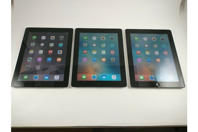 Apple iPad 3rd Gen. 16GB, Wi-Fi, 9.7in - Black (CA) Lot of 3