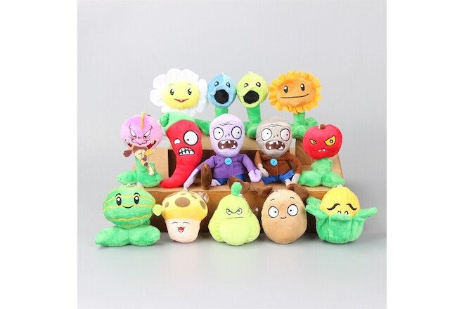 Set of 14pcs Hot Kids Gift PLANTS vs. ZOMBIES Soft Plush Doll Plush Toy Children