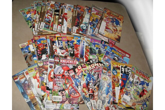 Sonic X Sonic Boom Knuckles Sonic Special Lot of 61 Issues VF to NM Unread