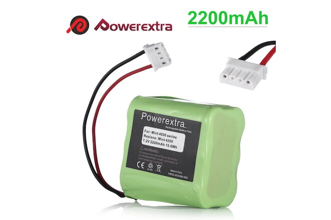 7.2V Replacement Battery for iRobot Mint 4200 4205 Braava 320 321 Vacuum Cleaner