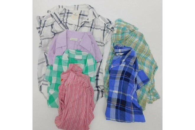 Button Down Shirt Bundle Lot 6-Pieces Women's XS