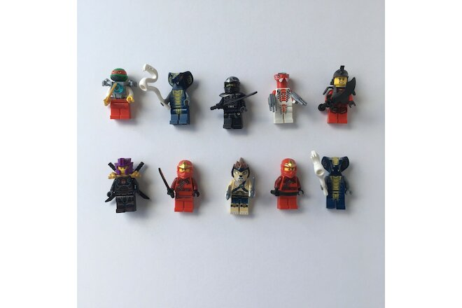 LEGO NINJAGO minifigures lot of 10