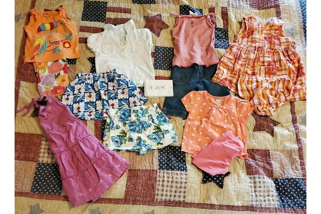 18-24 Month Summer Girls Clothing Lot