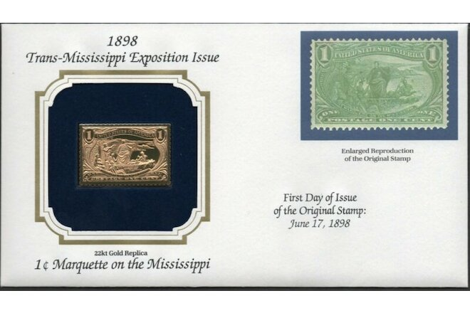 1898 Trans-Mississippi Exp Issue U.S Golden Replicas of Classic Stamps. Set of 9
