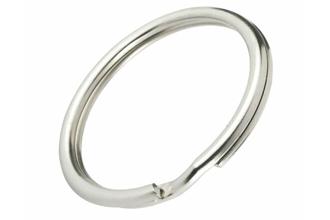 "100 Pack - 1"" Key Rings - Heat Treated Heavy Duty - Premium Split Ring Keychains"