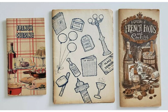 Vintage French Cooking Pamphlets Ephemera