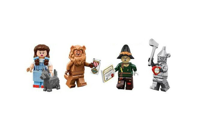 Lego Movie 2 Wizard of Oz Minifigures 71023 Dorothy Scarecrow Tinman Lion SEALED