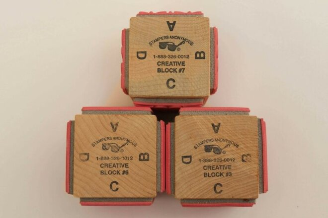 3 Stampers Anonymous Creative Block Cube Stamps #3 #6 #7