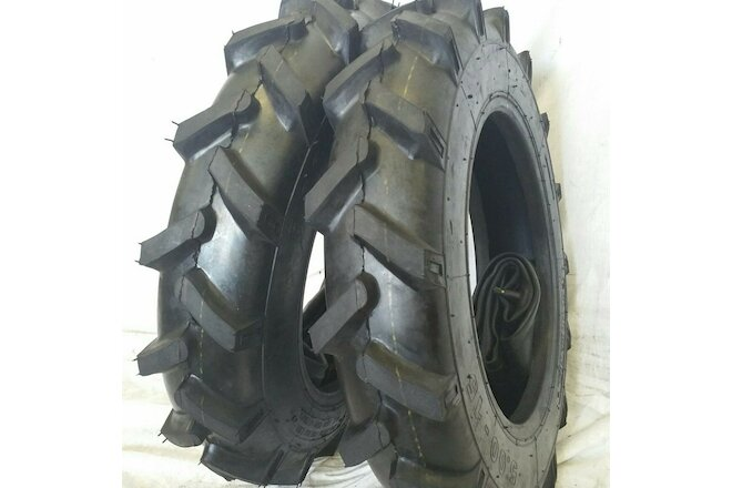 5.00-15 (2 TIRES + TUBES) 5.00X15, ROAD-CREW JOHN DEERE R1 Tractor Tires 6 PLY