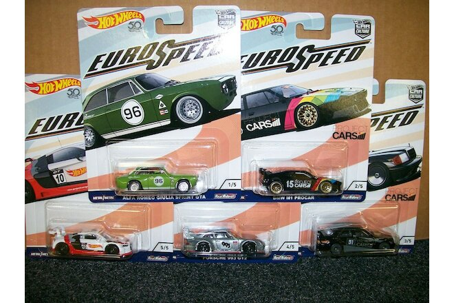 Hot Wheels Car Culture Euro Speed Set of 5
