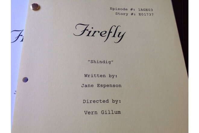 FIREFLY CASTLE THE ROOKIE TV Studio Scripts LOT of (16) Scripts NATHAN FILLION