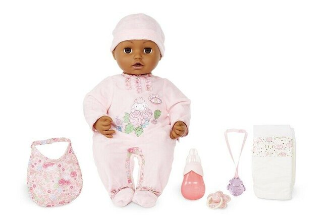 BABY BORN BABY ANNABELL SOFT-BODIED DOLL, BROWN EYES *DISTRESSED PKG