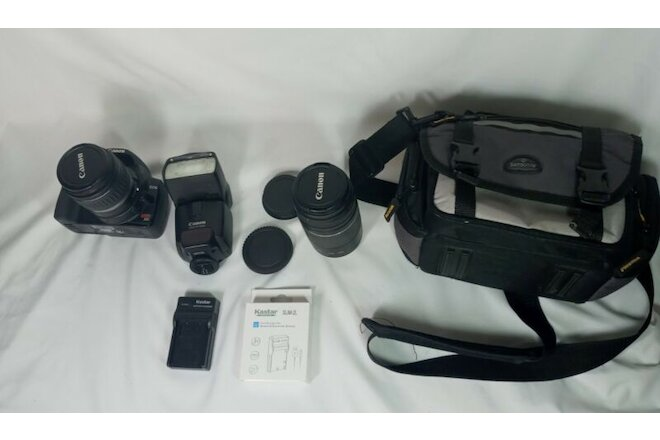 Pre-owned Canon DS126151 Digital X DLSR Camera W/ Battery, EF75-300mm Lens & Bag