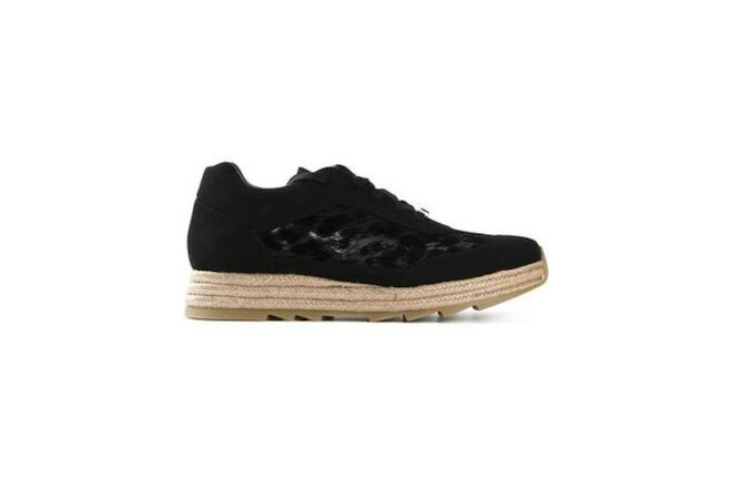 Stella McCartney Womens Fashion Sneakers Shoes 39 Black Raffia Designer 372521