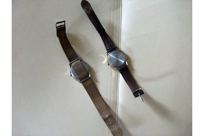 Lot of two Vintage Mens LL Bean Field Watch  150 Feet Water Resistance