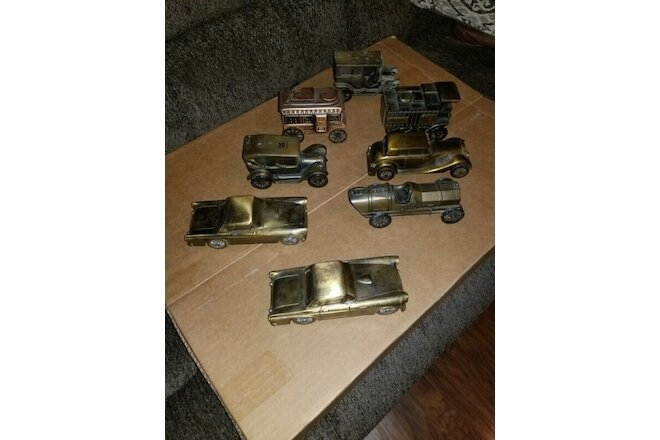 70's Banthrico Chicago Bank Lot Of 7 Vehicle Banks