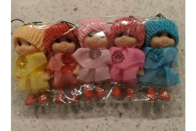 5-Piece, Mini Baby Dolls! Cute! - Receive In Days, Not Weeks, Free Shipping!